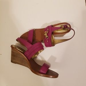 Coach fuschia wedges